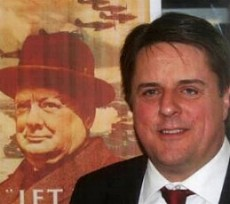 Nick Griffin MEP Churchill imagery