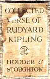 Kipling's Collected Verse; Swastika Motif on Book Spine. Kipling received the first Nobel Prize for literature
