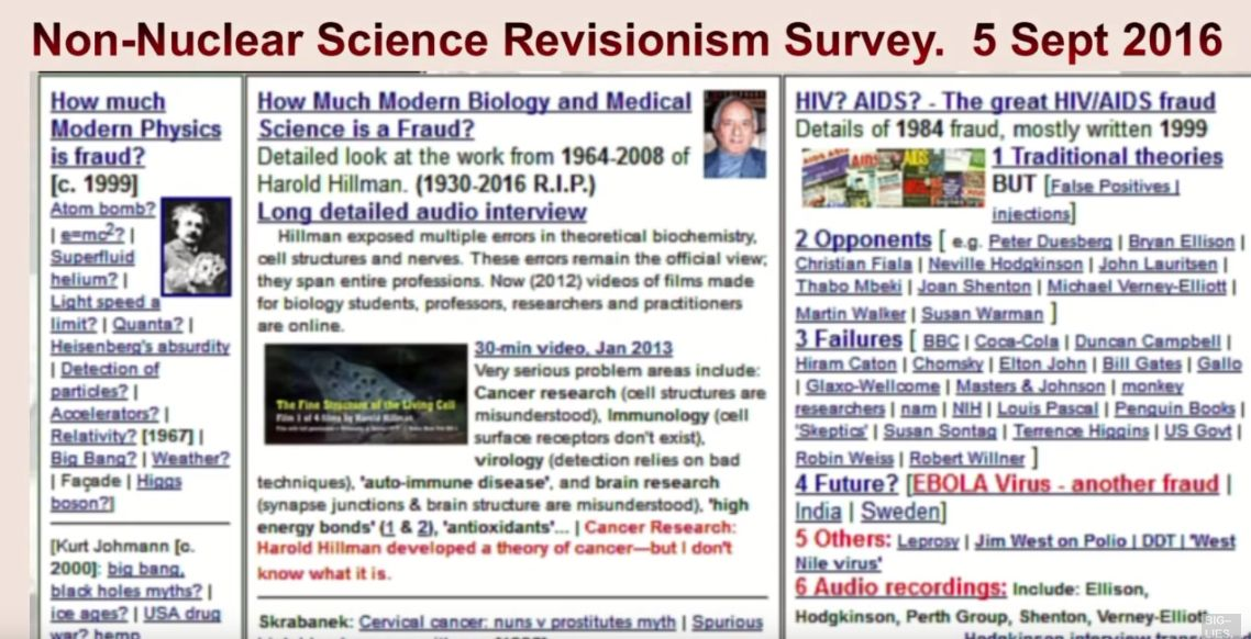 science revisionism youtube picture link