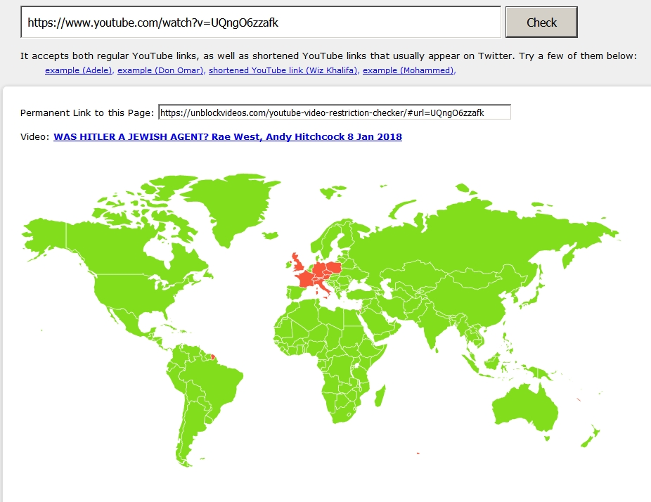 Rerevisionist videos banned in eu the map shows results for a typical video of mine as far as i know these restrictions are not from youtube but from the chosen people doing their gumiabroncs Image collections